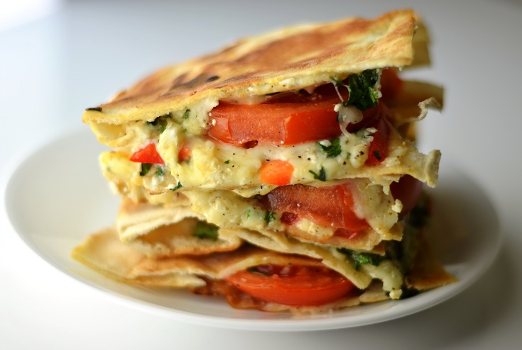 Mozzarella, Feta, Tomato, and Cilantro Grilled Pita Sandwiches - The ...